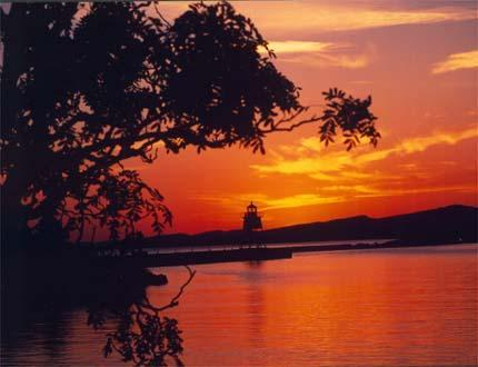 Picturesque Grand Marais Harbor and Lighthouse